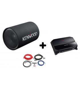 Pachet KENWOOD KSC-W1200T + KAC-PS702EX + LK-10