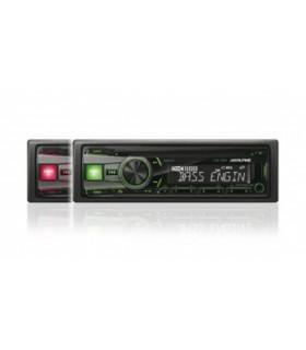 Alpine CDE-190R RADIO CD/USB, ROSU/VERDE