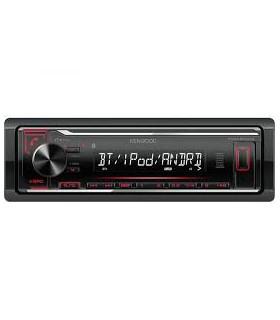 KENWOOD KMM-BT204 RADIO CU USB/BLUETOOTH, ROSU